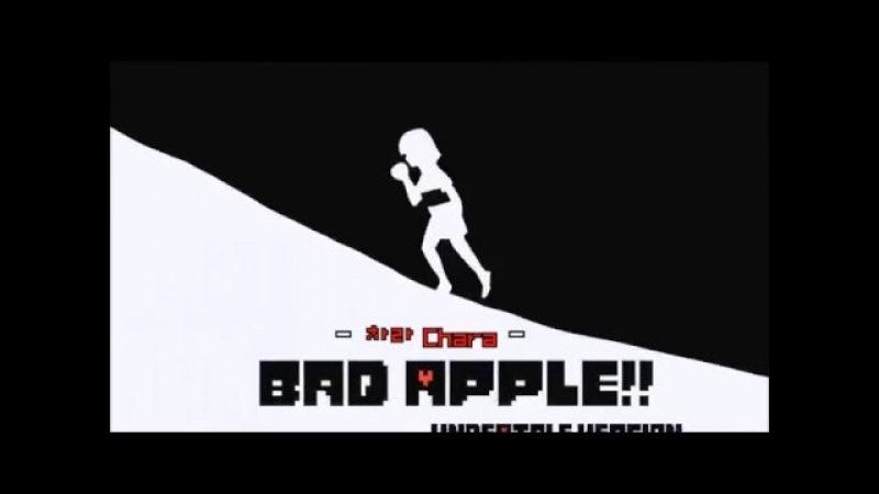 [UNDERTALE] Bad Apple Undertale анимация на русском [RUS]