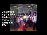 Julian Freestyling With The Les Twins 7/14/13