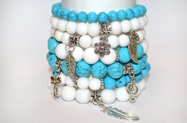 Красивые браслеты из камней
