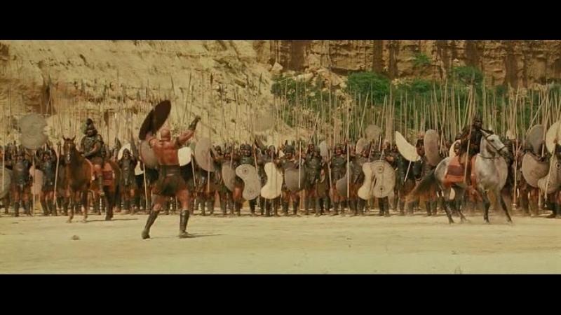 Troy.2004 - сегмент, Короткая Битва Ахилеса и Багриса