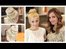 Cross-Braid Sock Bun | Guest EveliniCutza | Cute Girls Hairstyles