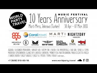 10 YEARS ANNIVERSARY of WORLD PARTY TRAVEL.
