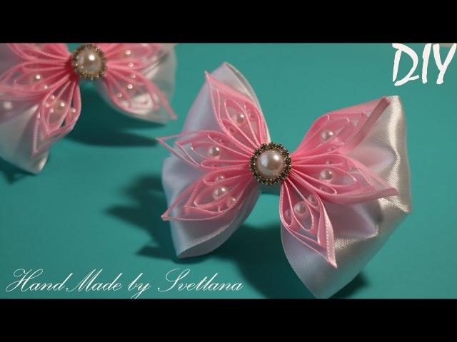 Бантики из атласной ленты Канзаши Satin ribbon Hair Bow Laco de fita