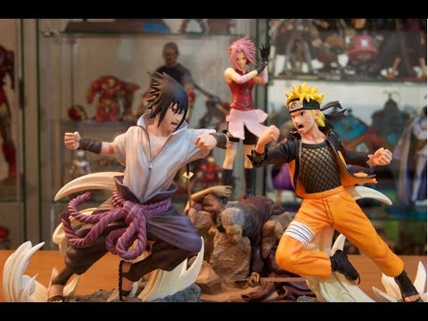Unboxing Tsume x Bandai Namco HQS Naruto vs Sasuke diorama statue