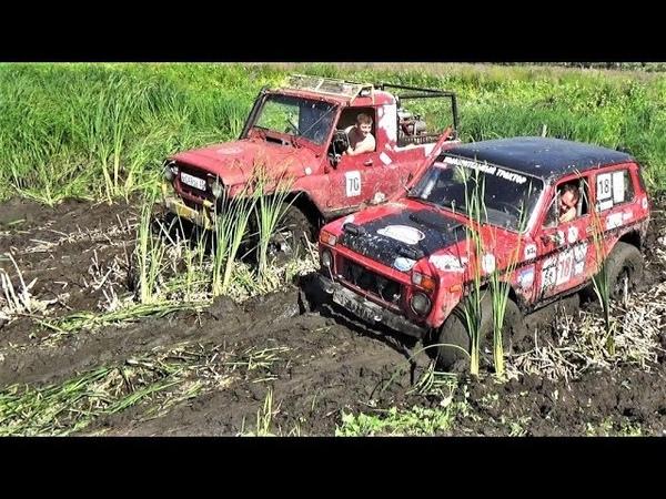 Нива на BFGoodrich против УАЗа на Сафари 500 по болоту