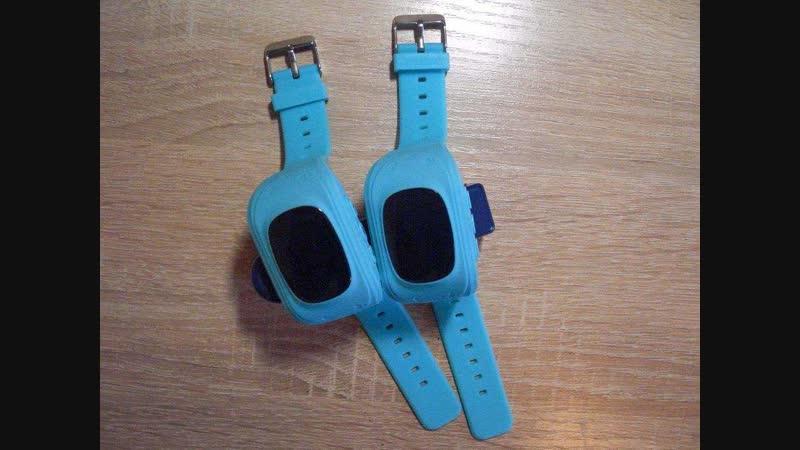 Голубенькие и розовые детские GPS часы Smart Baby Watch Q50