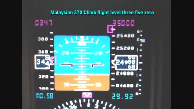 MH370 ATC Cockpit Voice Transcription Recording With Simulated Flight Video