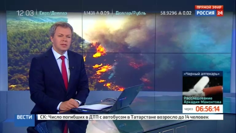 Новости на Россия 24 В Бурятии из за пожаров запретили ходить в лес
