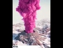 Eruzione rosa del vulcano in Nuova Zelanda VOLKAN PATLAMASI
