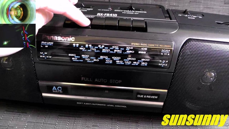 Panasonic RX-FS410 stereo radio cassette recorder
