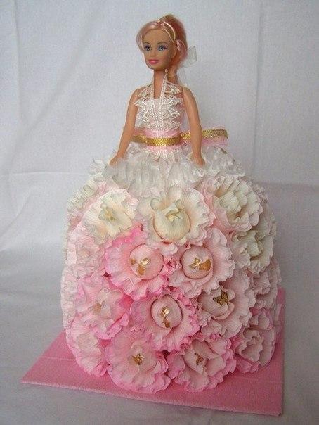 Кукла из конфет своими руками пошагово