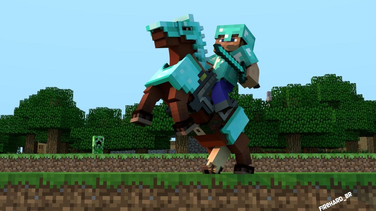 Minecraft: лошадь