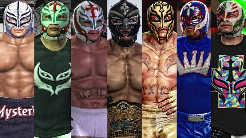 The Evolution Of Rey Mysterio Entrances ( Wrestlemania XIX To WWE 2K15 )