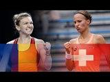 Simona HALEP (ROU) vs Viktorija GOLUBIC (SUI) Highlights FED CUP 2018
