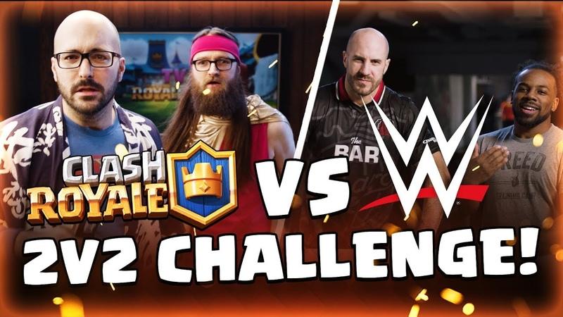 WWE Superstars 💪 VS Clash Royale Dev Team 🤓 (Cesaro Xavier Woods) |Sc studio