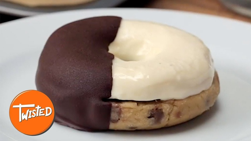 Cookie Dough Cheesecake Donuts Recipe | Twisted