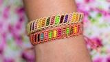 Pulsera macrame multicolor Pulseras de hilo faciles y rapidas Easy bracelet macrame