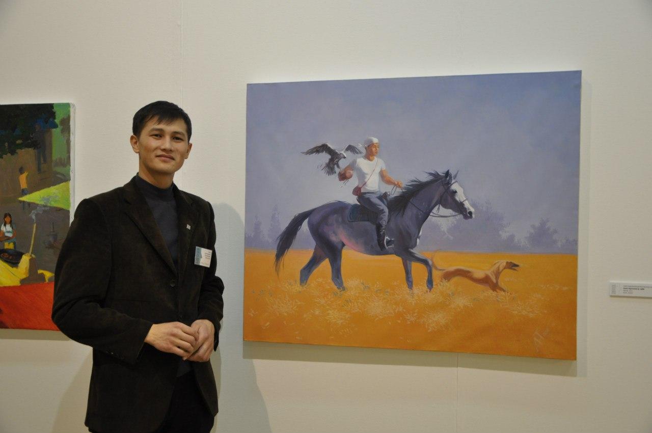 Казахстанский художник Алмас Нургожаев.