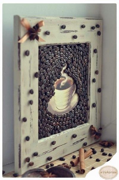 Kavos pupelių dekoras
