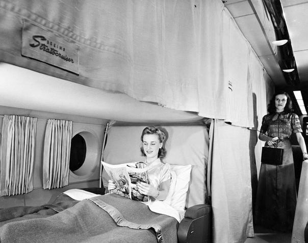 Невероятно комфортабельный самолет Boeing 377 Stratocruiser, США, 1950-е.