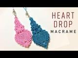 Macrame keychain tutorial - The Heart drop of Elsa - H