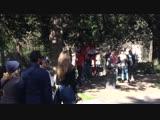 Fiesta sevillista en la Fan Zone de Villa Borguesse ️