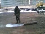 Взрыв кислородного баллона www.fire-info.ru