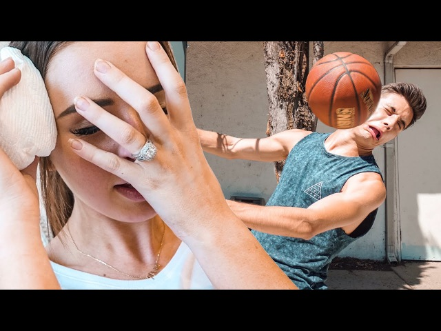 HUSBAND vs WIFE BASKETBALL GAME (SHE GOT INJURED)