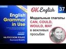 Unit 37 Сan could may would модальные глаголы для вежливой просьбы на английском