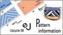 EJ Pattern 58 up cycle Pattern information Jeans colored shoulder bag