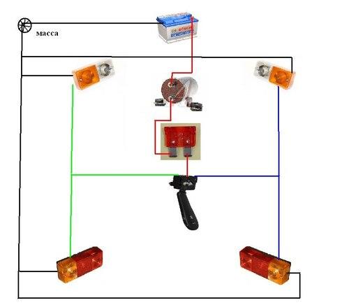 Схемы подключение електроники: