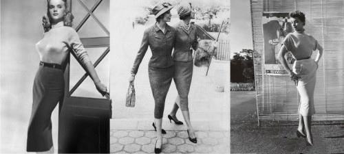 85408e843357a37 В 1940 году Кристиан Диор создаёт коллекцию new look. В этой коллекции и  была представлена первая юбка-карандаш. Её название - «H-юбка».
