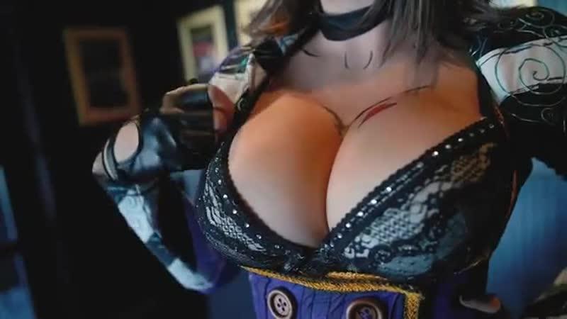 Сисястая шлюха music BigTits cosplay stockings grid JessicaNigri