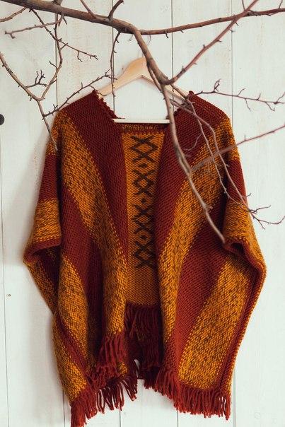 Вязаное пончо в стиле Бохо ищет свою прекрасную обладательницу… (4 фото) - картинка