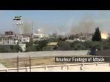 Израильские камеры наблюдения на Голанах засняли артудар сирийской армии по боевикам в г.Нава.14.05.2014г