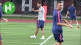 Diego Simeone leads Atletico Madrid training ahead of Arsenal clash in Singapore