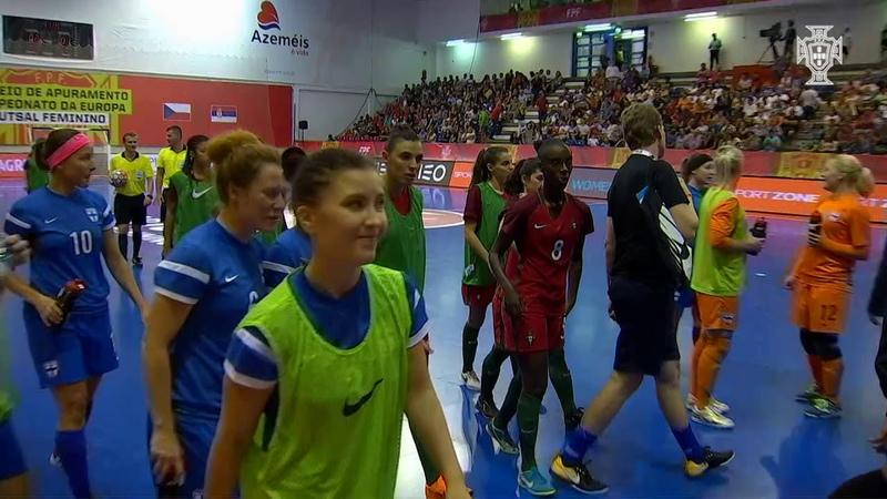 SNA Futsal Fem. Portugal vence a Finlândia (3-1) e garante presença no Europeu