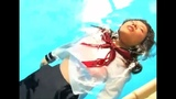 There's Nothing More Cute For This Girl Than Playing in The Pool With All Her Sailor Fuku