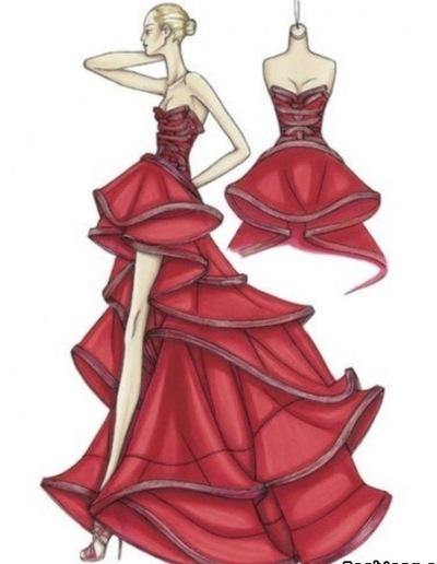 497d70f9b63 красивые платья и рисунки