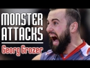 Powerfull Attacks by Georg Grozer. Lord of Gravity. Volleyball Spikes.