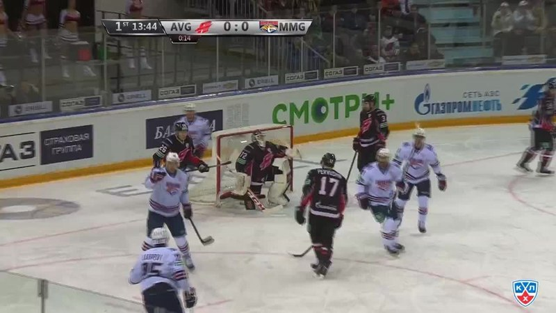 Моменты из матчей КХЛ сезона 14 15 Гол 0 1 Зарипов Данис Металлург Мг открывает счет матча в большинстве 14 01