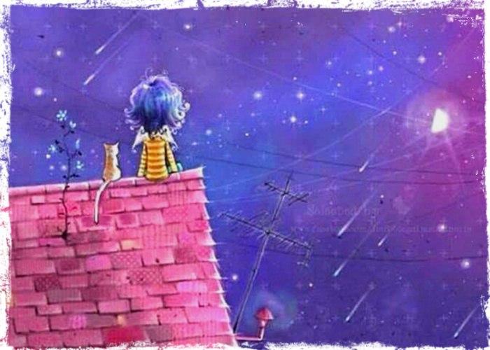 Звёзды — это домики ангелов, и по ночам в них загорается свет.