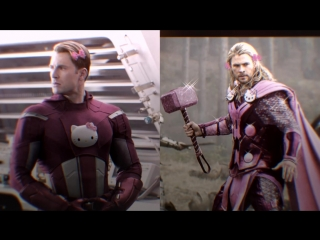 Captain America  Thor vine
