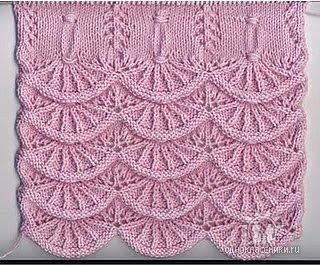 Алсацийские гребешки (рисунок - вязание спицами) .