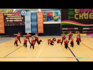 Общероссийские соревнования по чирлидингу 2018 - чир хип хоп группа - сборная ДГТУ