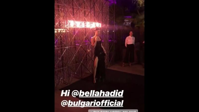 BHBR Bella Hadid no evento da Bulgari em Milão na Itália