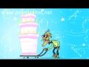 V танцует стриптиз в стрингах Анимационная открытка с днем рождения 720p