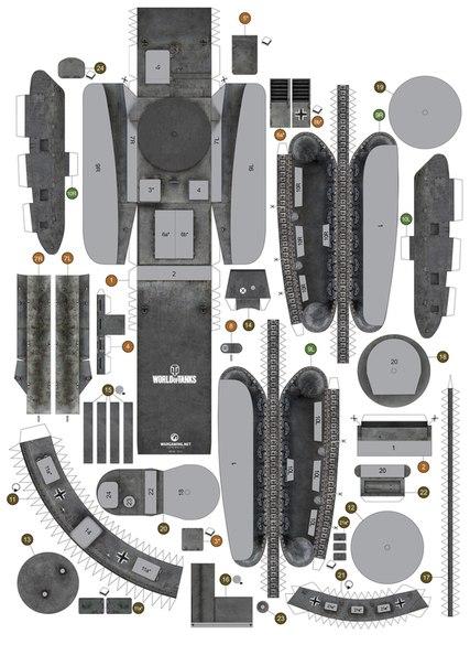 1 модель немецкого танка
