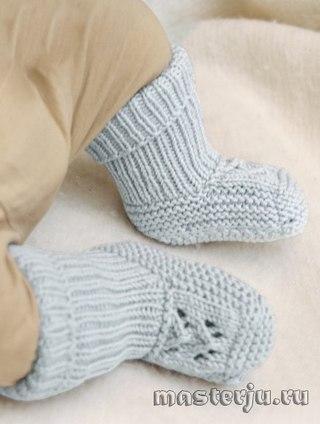 Связать двумя носки спицами для начинающих