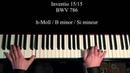 Invention 15 BWV 786 piano Laurent Penalva Onteniente